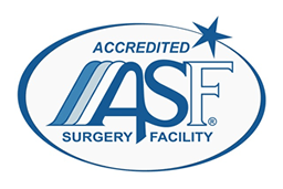 AAAASF accredited surgery center seal.