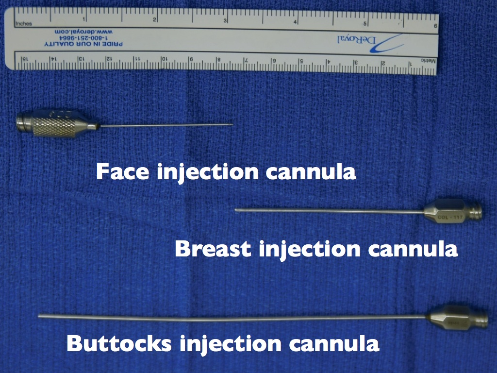 cannulas used for fat injection