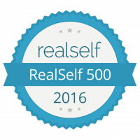 Realself 500 Top Doctor badge 2016