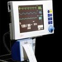 Monitor used to track vitals during anesthesia .