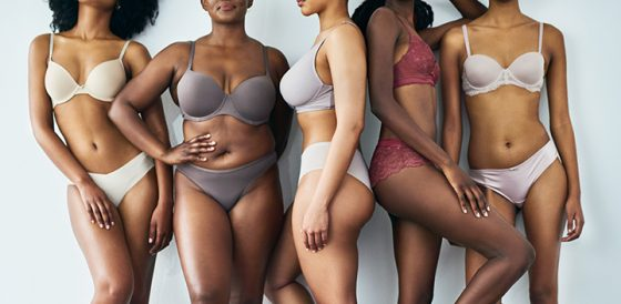 group of diverse women's bodies