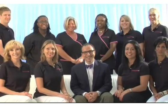 group photo of Dr. Rodriguez and the cosmeticsurg staff