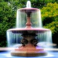 A fountain in a park, symbolizing for the fountain of youth.