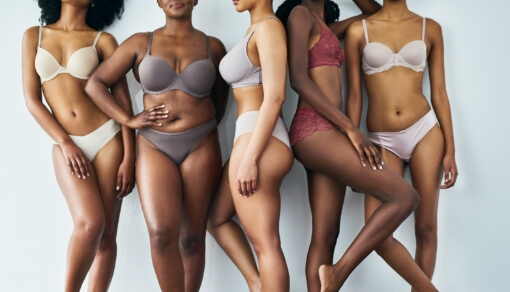diverse group of women with different body types