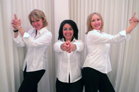 Our office staff, posing as Charlie's Angels.