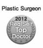 A Realself Top Doctor 2012 medal.